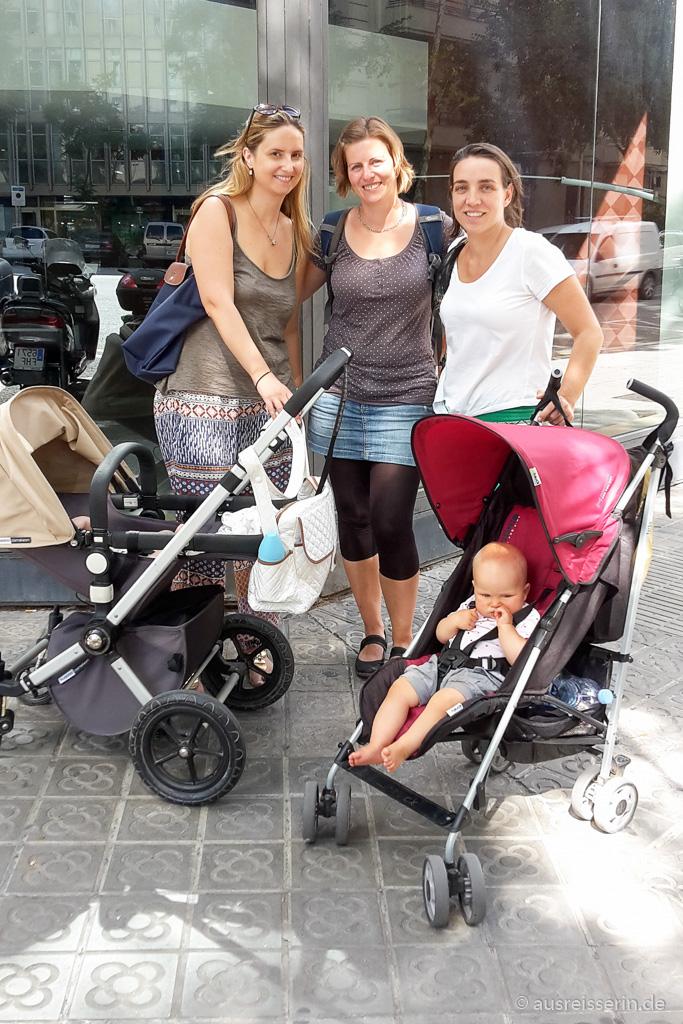 Freunde treffen in Barcelona, mittlerweile mit unseren Kindern.