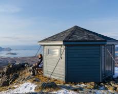 Gipfelhütte auf dem Veten