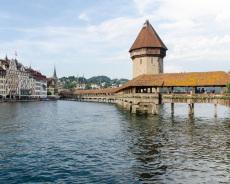 Kapellbruecke in Luzern, Schweiz