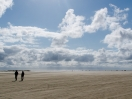 Strandszene mit Gegenlicht