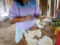 Maniok-Pfannkuchen mit Marmelade