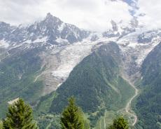 Aussicht aufs Mont Blanc Massiv