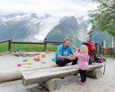 Gletscherblick vom Merlet-Park aus