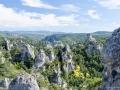 Panoramablick über das Felsenmeer