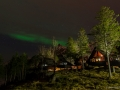 Nordlichter über dem Lofoten Feriesenter