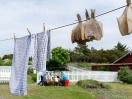 Wäscheleine mit Schollen