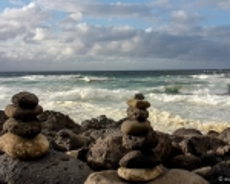 Wellen am Praia Santa Bárbara