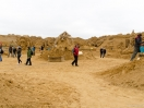 Gesamtsicht aufs Sandskulpturenfestival