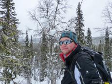 Jan beim Schneeschuhwandern