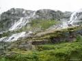 Wasserfälle entlang des Sognefjellet