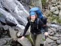 Wasserfall kreuzte den Weg