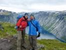 Nicole und Jan vorm Ringedalsvatnet
