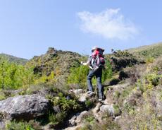 Aufstieg vom Lagoa do Fogo