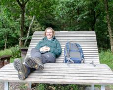 Pause im Teutoburger Wald