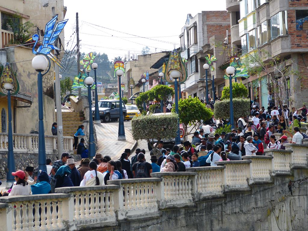 Glasverzierungen in Otavalo