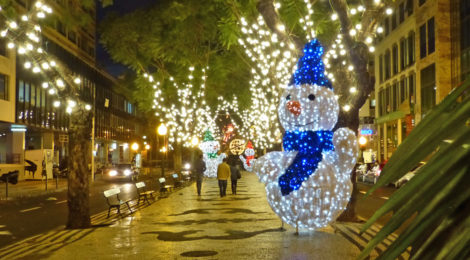 Weihnachtebeleuchtung in Funchal