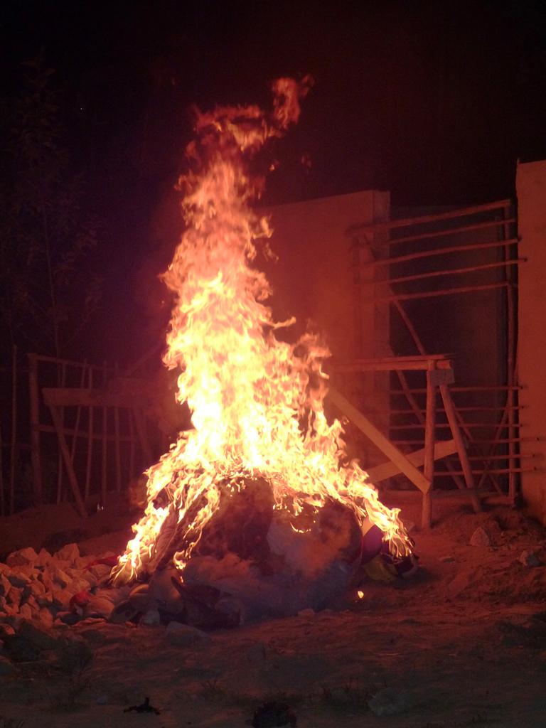 Die bösen Geister von 2011 werden ausgetrieben. Feliz año nuevo!