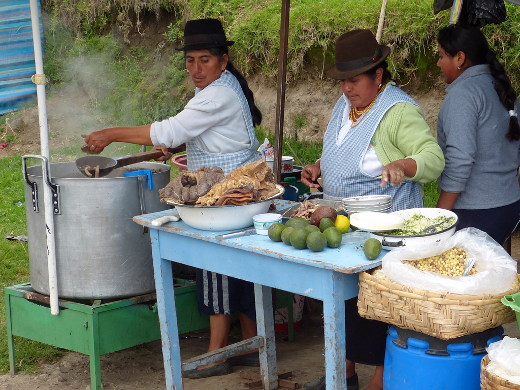 Marktstand in Otavalo