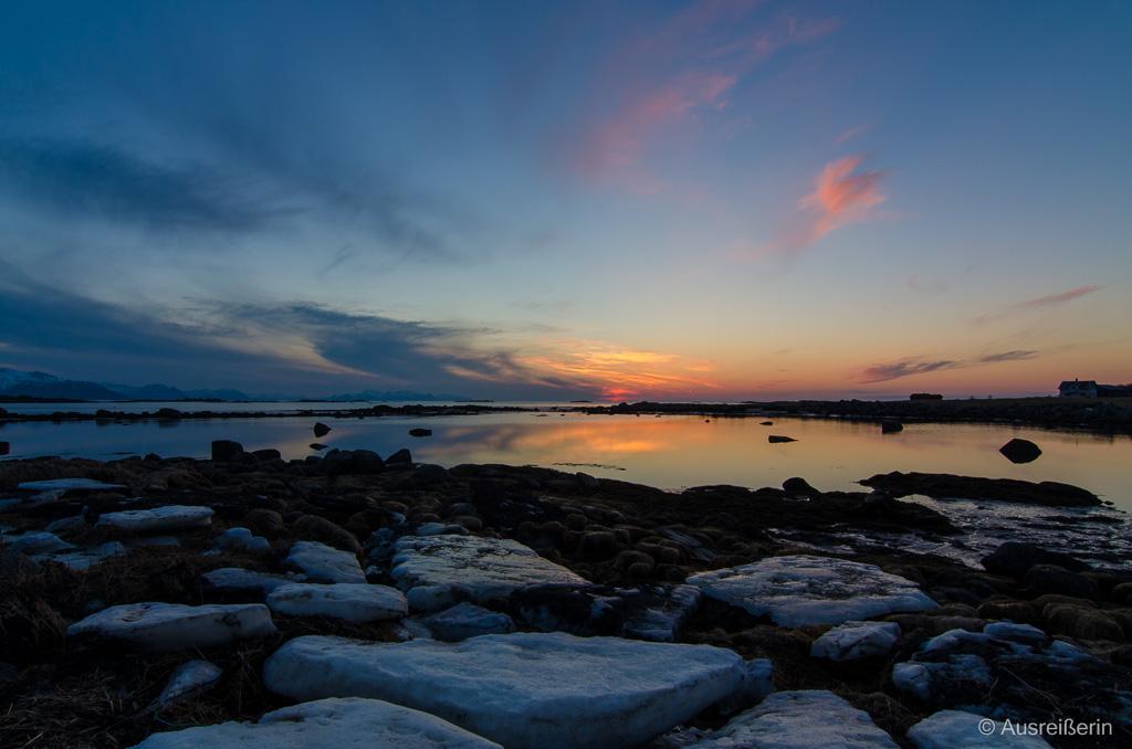 Sonnenuntergang auf Hadseløyas