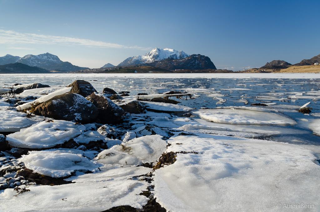 Eisschollen auf dem Malnesfjord