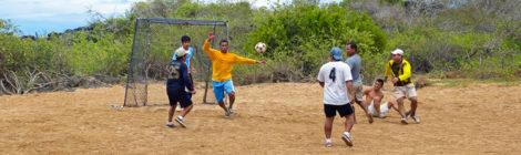 Fußball mit der Schiffscrew