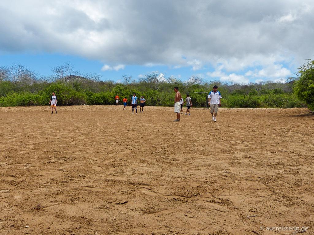 Fußballplatz auf Floreana