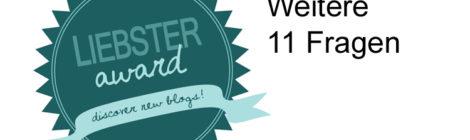 Liebster Award 2: Weitere 11 Fragen
