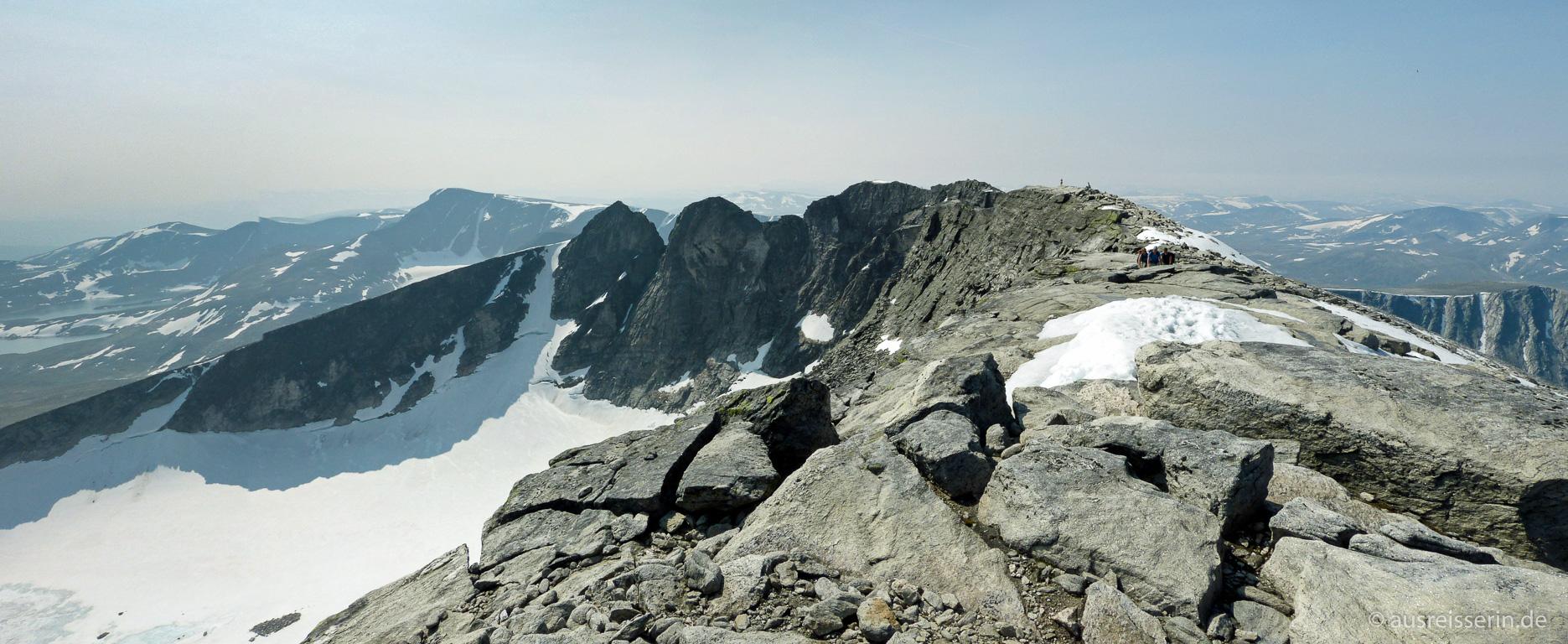 Die Gipfel der Snøhetta