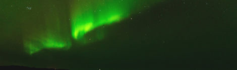 Nordlicht über Hov, Gimsøy