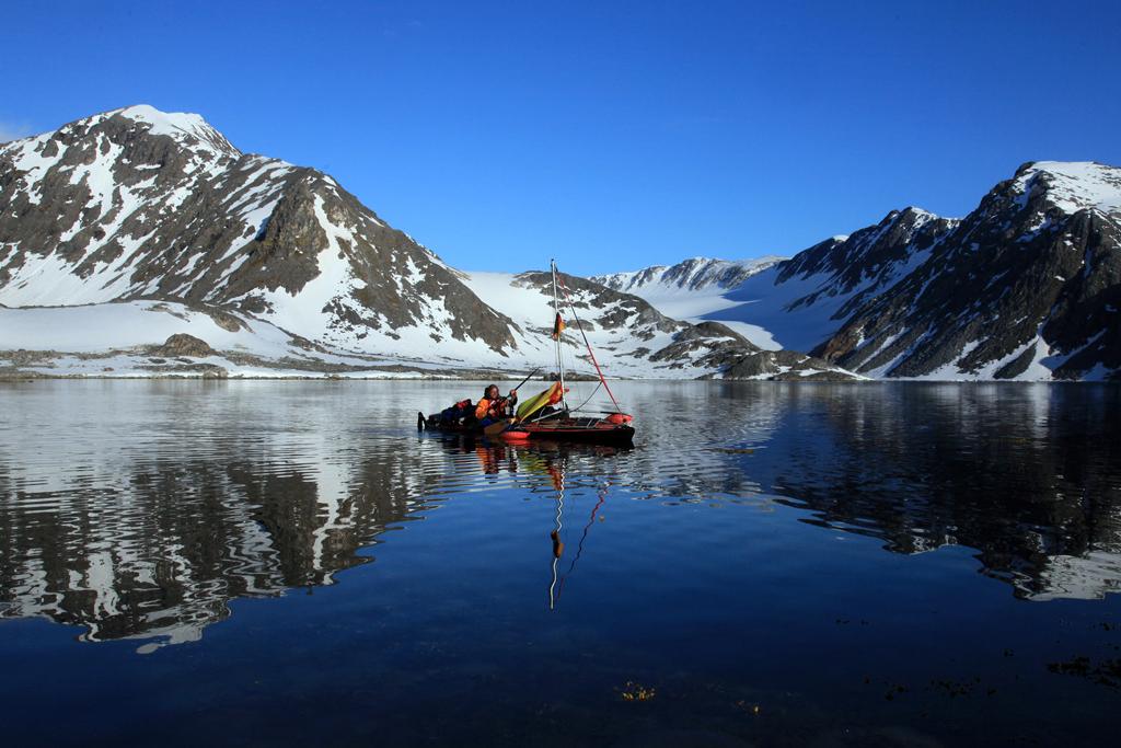 Kajaktour durchs Eismeer