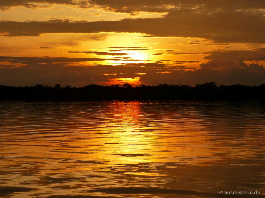 Sonnenuntergang über der Laguna Grande.