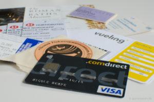 Alles mit Kreditkarte bezahlt.