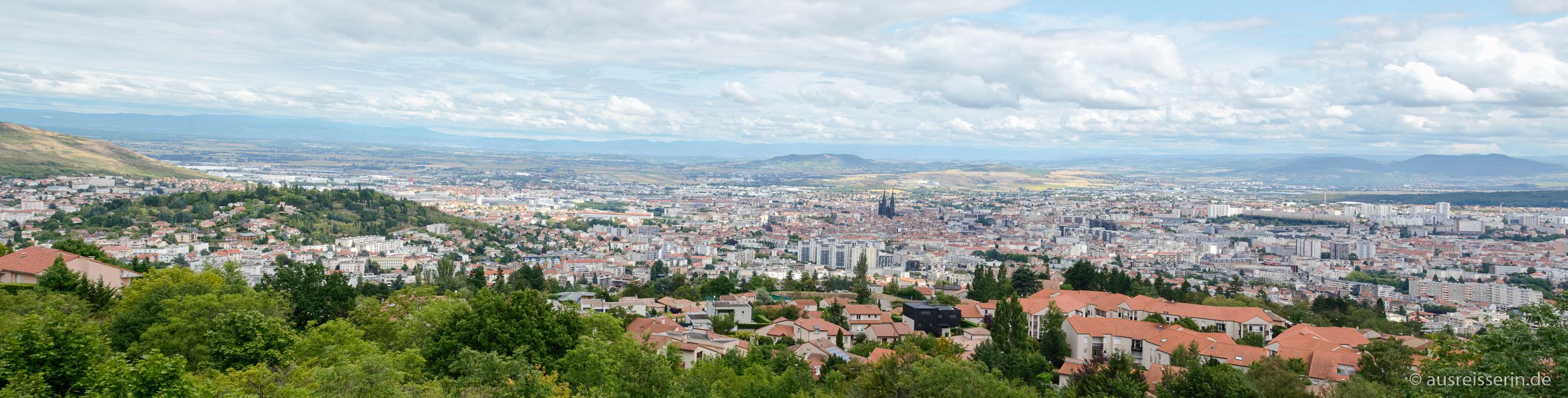 Ausblick auf Clermont-Ferrand