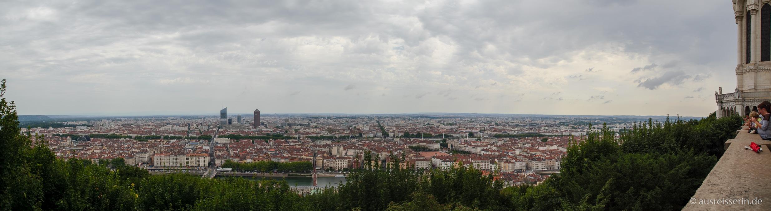Panoramablick über Lyon