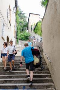 Schweißtreibender Aufstieg zur Basilique de Fourvière