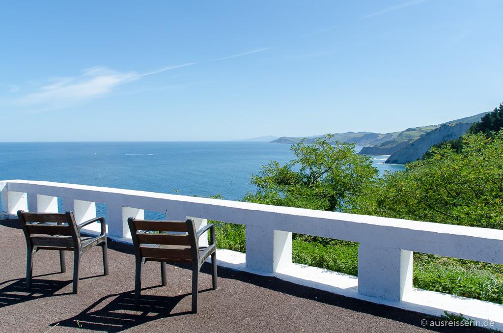 Ausblick auf die baskische Küste