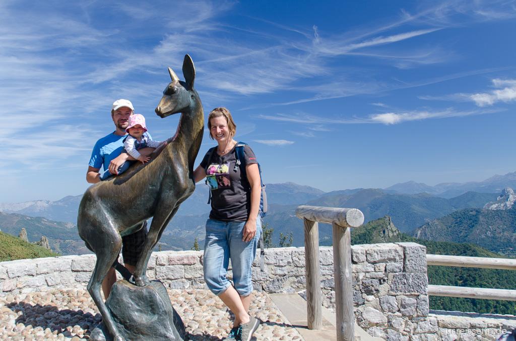 Familienfoto in den Picos de Europa
