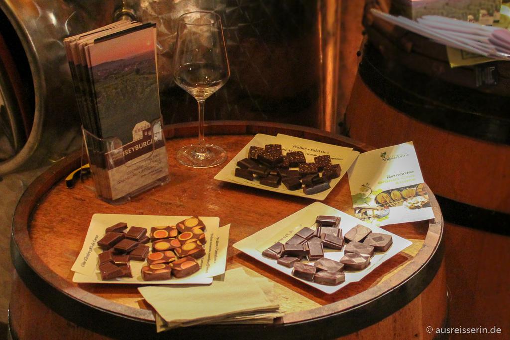 Schokolade zum Wein