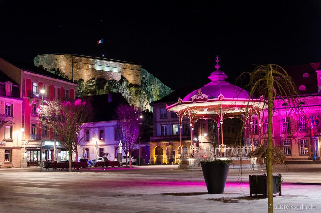 Illuminierte Altstadt von Belfort