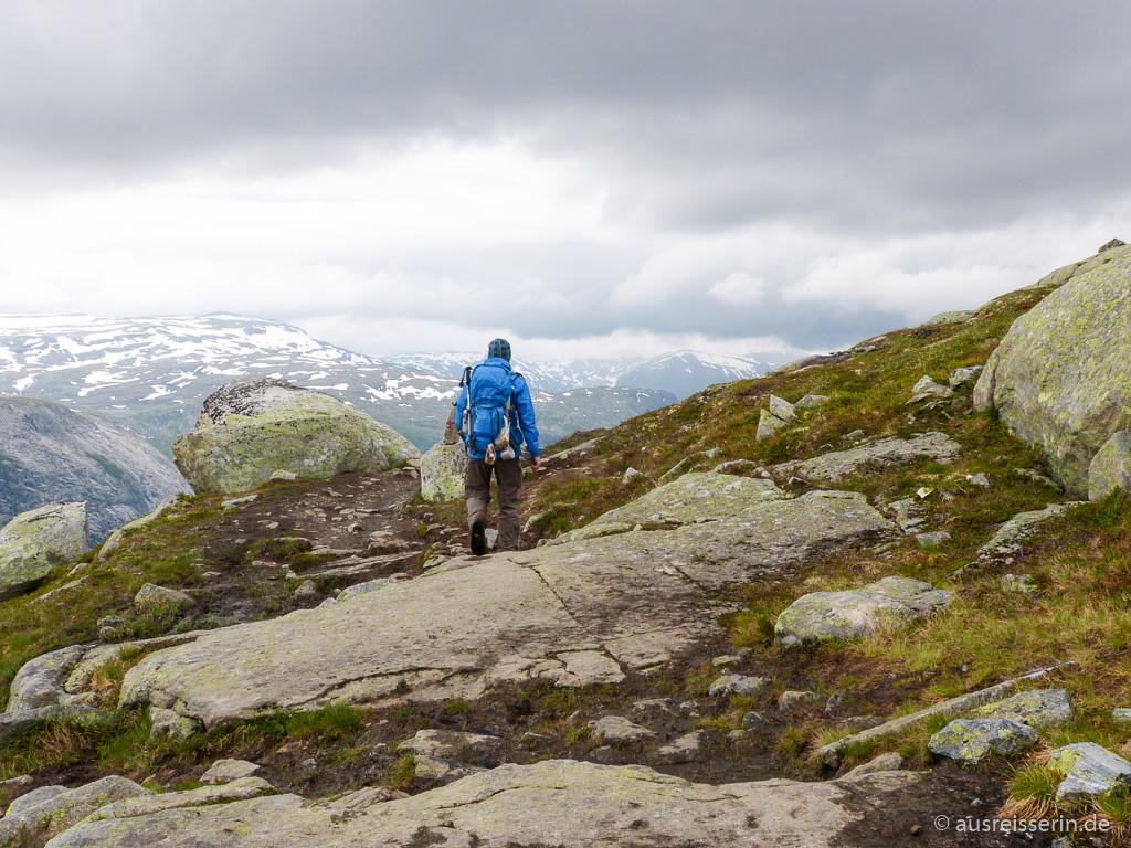 Wanderung über das Tyssedalsfjell