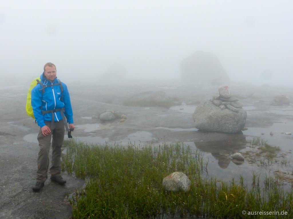 Kjerag-Plateau im Nebel