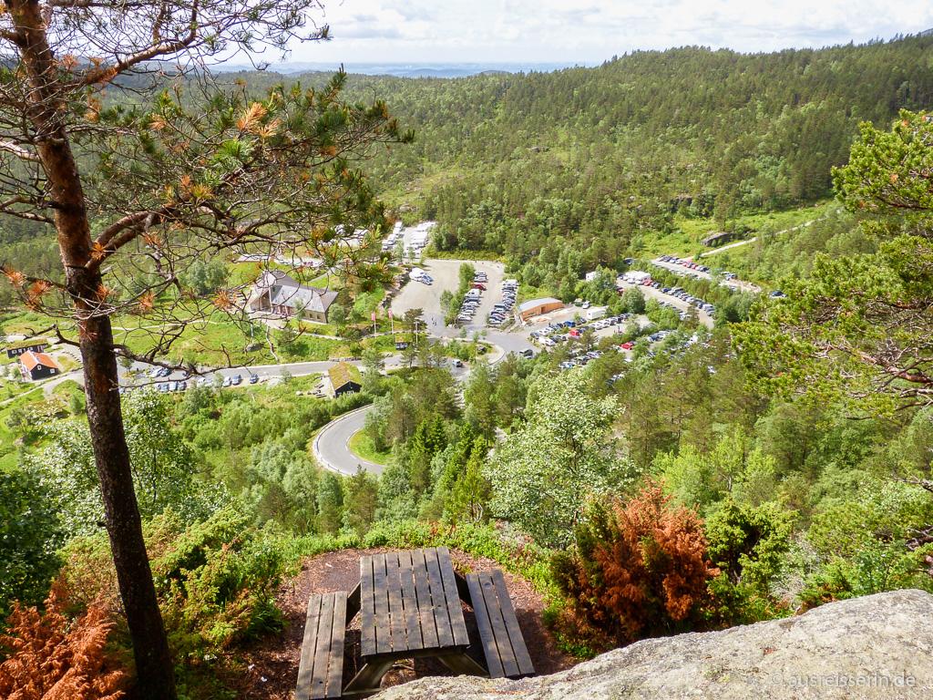 Parkplatz an der Preikestolen Fjellstue