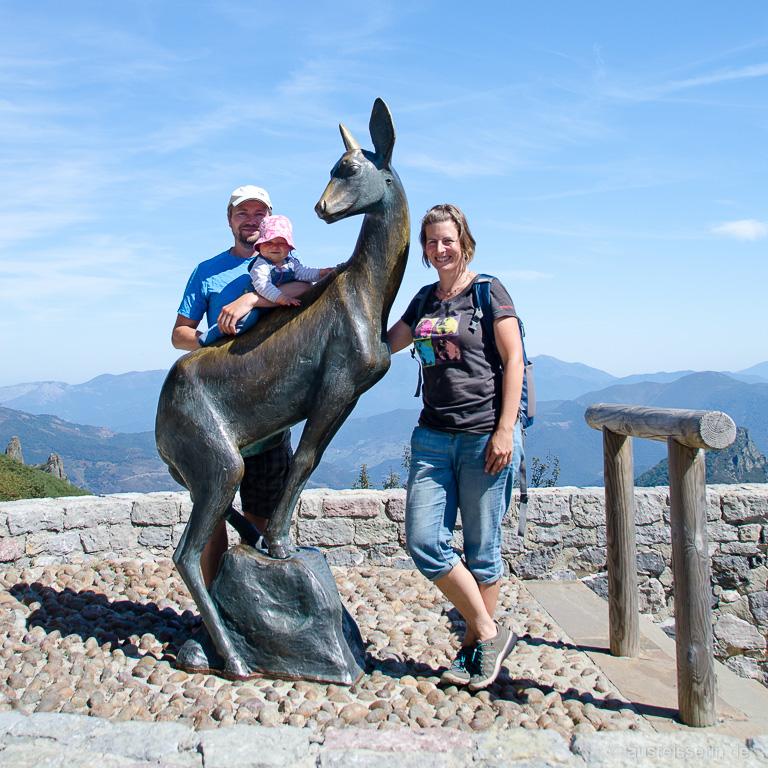 Familienfoto in den Picos de Europa, Spanien