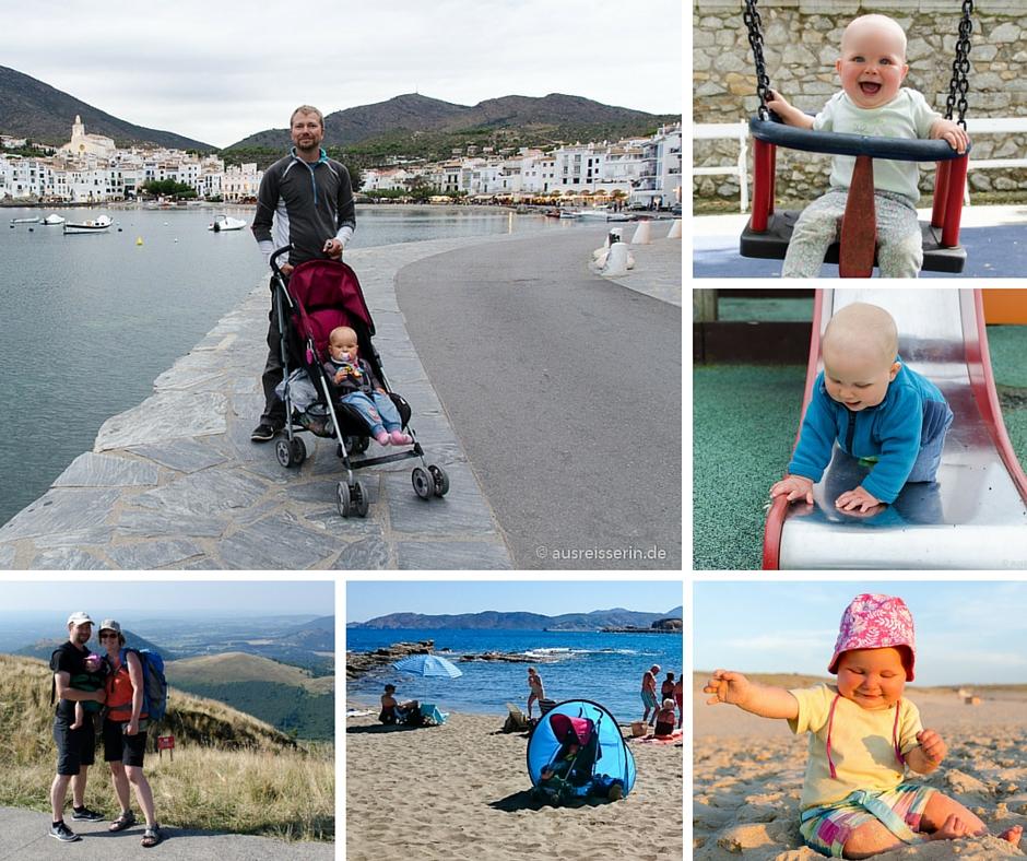 Unternehmungen mit Baby: Stadtbummel, Kurzwanderungen und Strand waren unsere Mittel der Wahl.