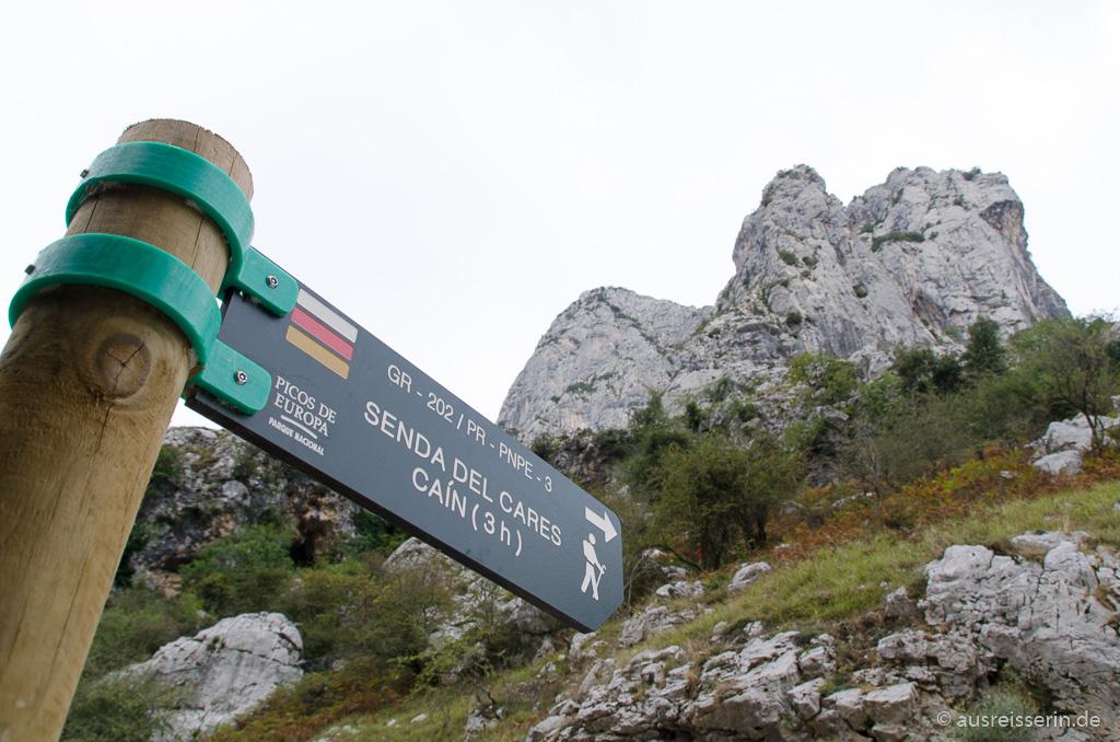 Einstieg zur Ruta del Cares