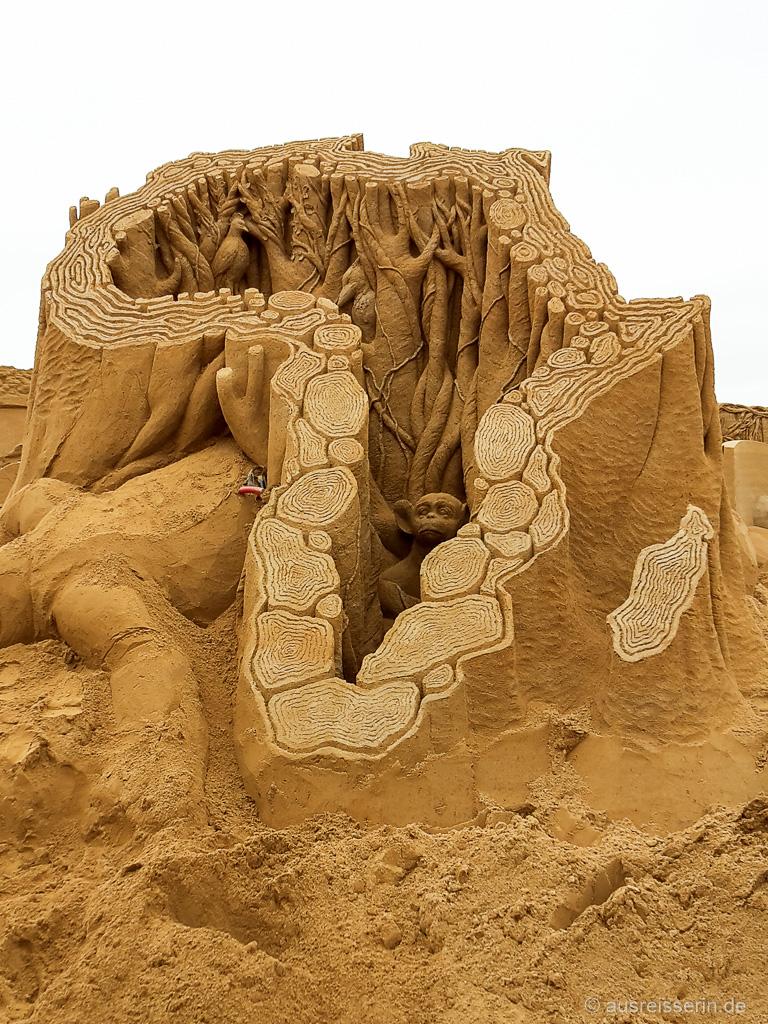 Thema des Sandskulpturenfestival im Jahr 2016: Afrika.