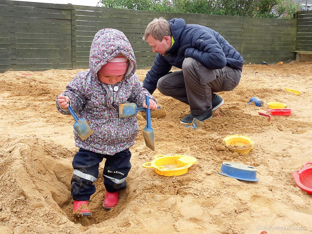 Sandkasten beim Sandskulpturenfestival