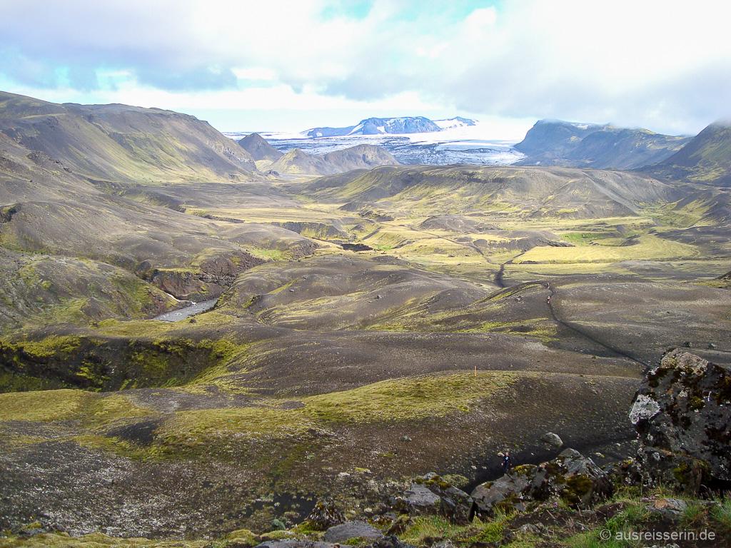 Islands Hochland mit Mýrdalsjökull