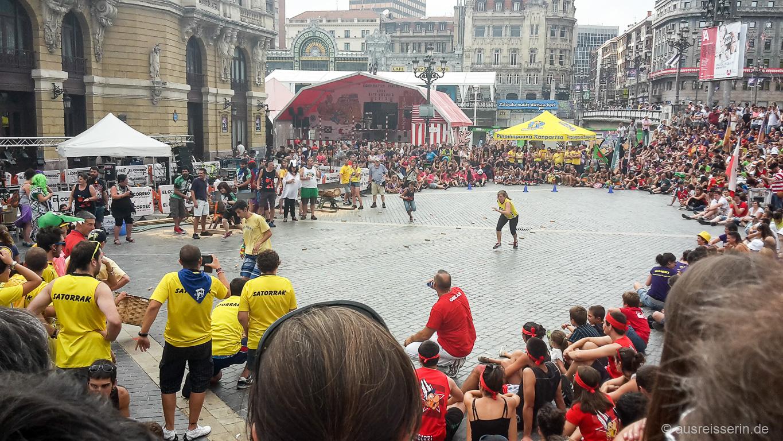 Wettbewerb im Rahmen der Semana Grande von Bilbao.