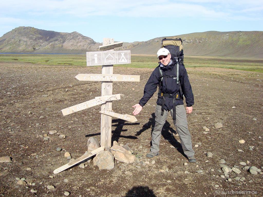 Wegweise Landmannalaugar